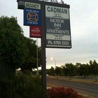 Photo taken at Cadman Motor Inn by Jeremy D. on 11/16/2012