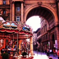 Photo taken at Piazza della Repubblica by Lindsay K. on 5/28/2012