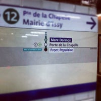 Photo taken at Métro Marx Dormoy [12] by C o y o t e . on 8/29/2012