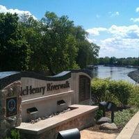 Photo taken at McHenry Riverwalk by Jim C. on 5/8/2012