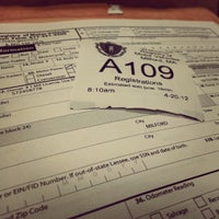 Photo taken at Registry of Motor Vehicles by Joel F. on 4/20/2012