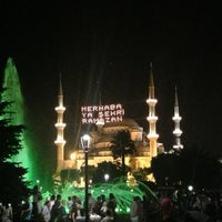 Photo taken at Sultanahmet Square by Esin K. on 7/13/2013