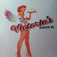 Photo taken at Victoria's Diner by 💋Cathy💋 T. on 4/22/2013