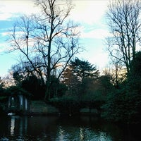 Photo taken at Bourne Hall Park by Eric R. on 1/17/2014