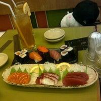 Photo taken at Sushi Kiosk! by Sushi Tei by Mayka D. on 3/6/2013