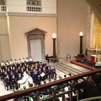 Photo taken at Vor Frue Kirke by Natasha Friis S. on 11/3/2012
