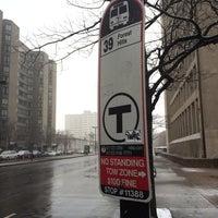 Photo taken at MBTA 39 Bus @ Prudential by Chris R. on 2/3/2014
