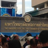 Photo taken at University of the Thai Chamber of Commerce (UTCC) by Gutorlizm on 12/1/2012