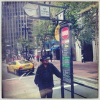 Photo taken at MUNI Bus Stop - Second & Market by Rosemarie M. on 8/8/2013