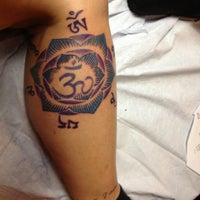 Photo taken at Saint Hillix Tattoo by Carolyn F. on 2/1/2013