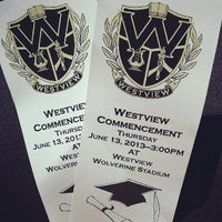 Photo taken at Westview High School by Missy B. on 6/13/2013
