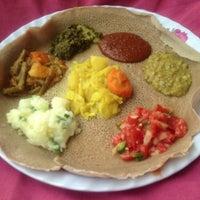 Photo taken at Meskerem Ethiopian Restaurant by Sir Apollo T. on 3/21/2013