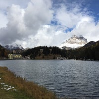 Photo taken at Lago di Misurina by Kate K. on 10/19/2015