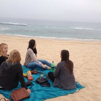 Photo taken at Sardinia Bay Beach by Emmelie D. on 5/16/2016