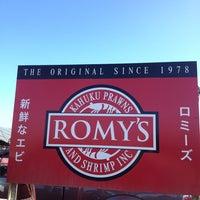 Photo taken at Romy's Kahuku Prawns & Shrimp Hut by iKon on 12/29/2012