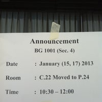 Photo taken at Coronation Hall (C Building) by saran p. on 1/15/2013