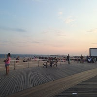 Photo taken at Ocean Parkway Beach by Anna K. on 7/21/2014