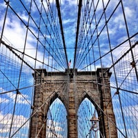 Photo taken at Brooklyn Bridge by Sarena B. on 7/27/2013