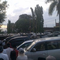 Photo taken at Masjid Agung Al-Falah by Mamang U. on 8/8/2013
