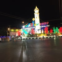 Photo taken at Maha Sarakham Clock Tower by Songkhwan P. on 12/31/2015