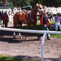 Photo taken at Belmont Park Racetrack by Jessica J. on 9/14/2012
