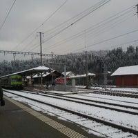 Photo taken at Bahnhof Langnau i.E. by Yuri L. on 11/30/2012