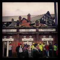 Photo taken at Craven Cottage by Eric K. on 12/26/2012