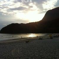 Photo taken at Praia de Guaecá by Carlos S. on 12/2/2012