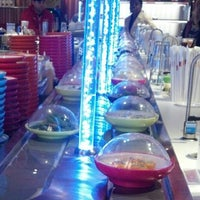 Photo taken at Yo! Sushi by Will D. on 10/8/2012