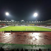 Photo taken at Tancheon Sports Complex Stadium by Min-ki B. on 8/3/2016