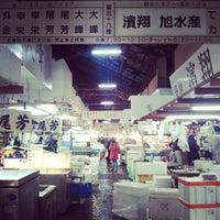 Photo taken at Tsukiji Market by Cindy Z. on 2/18/2013