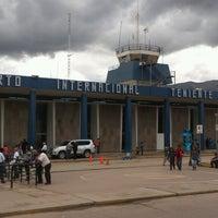 Photo taken at Aeropuerto Internacional Alejandro Velasco Astete (CUZ) by Michael A. on 4/4/2013