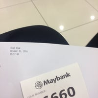 Photo taken at Maybank by ✨ on 10/31/2016
