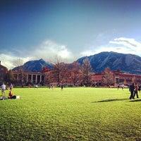 Photo taken at University of Colorado Boulder by Jack on 4/6/2013
