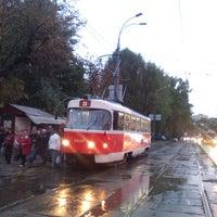 Photo taken at Трамвайна станція «Семена Скляренка»/Semena Skl'arenko tram station by Oksana B. on 10/5/2016