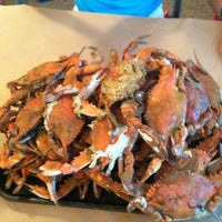Photo taken at Harris Crab House by Kimberly C. on 8/26/2012