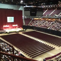 Photo taken at Reed Arena by Lauren B. on 5/11/2012