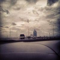 Photo taken at Rama IX Bridge by Charoen W. on 9/4/2012