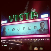 Photo taken at Vista Theater by Eric P. on 10/2/2012