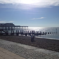 Photo taken at Aberystwyth Beach by †MuMu I. on 5/19/2013