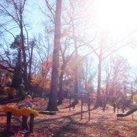 Photo taken at Memorial Park Playground by Michael P. on 11/16/2013