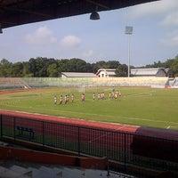 Photo taken at Stadion Wijayakusuma Cilacap by Yanuar P. on 8/7/2014