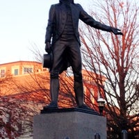 Photo taken at O'Donnell Square Park by AJ T. on 11/25/2012