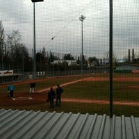 Photo taken at Mainz Athletics Ballpark by Steffinho on 4/6/2013