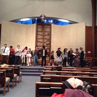 Photo taken at Temple Rodef Shalom by Sam S. on 3/13/2014