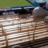 Photo taken at Estadio Don León Kolbowski - Club Atlético Atlanta by Mario G. on 4/26/2014