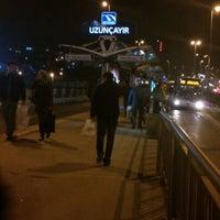 Photo taken at Uzunçayır Metrobüs Durağı by osman a. on 11/23/2012