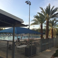 Photo taken at Palm Desert Aquatic Center by T D. on 3/21/2016