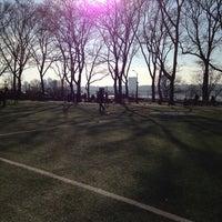 Photo taken at 101 Street Soccer Field by Nancy K. on 4/2/2014