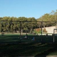 Photo taken at 101 Street Soccer Field by Nancy K. on 10/15/2013